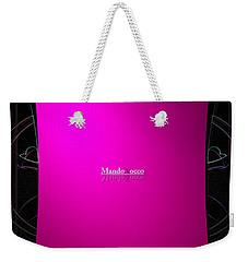 Black Pink Weekender Tote Bag