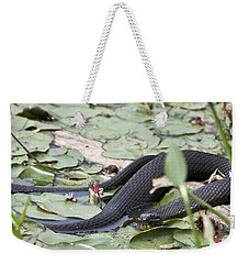 Snake In The Lillies Weekender Tote Bag by Jeannette Hunt
