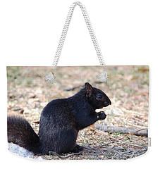 Black Squirrel Of Central Park Weekender Tote Bag by Sarah McKoy