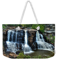 Weekender Tote Bag featuring the photograph Black Water Falls by Mark Dodd