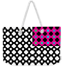 optical illuson Pink Black flag 2 Weekender Tote Bag
