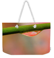 Weekender Tote Bag featuring the photograph Blade Drop by Arthur Fix