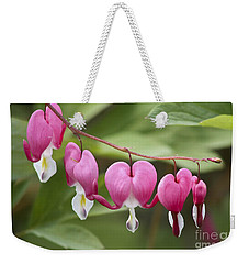 Bleeding Hearts Weekender Tote Bag by Teresa Zieba