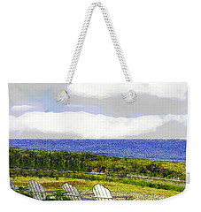 Block Island Sea Chairs Weekender Tote Bag