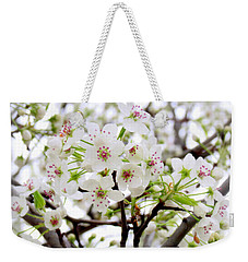 Weekender Tote Bag featuring the photograph Blooming Ornamental Tree by Kay Novy