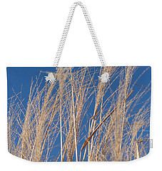 Weekender Tote Bag featuring the photograph Blowing In The Wind by Barbara McMahon
