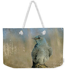 Blue Bird Weekender Tote Bag by Teresa Zieba