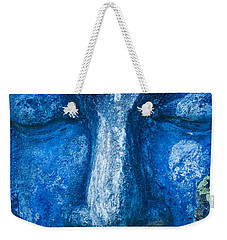 Weekender Tote Bag featuring the photograph Blue Buddha  by Luciano Mortula
