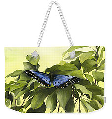 Blue Butterfly Of Branson Weekender Tote Bag