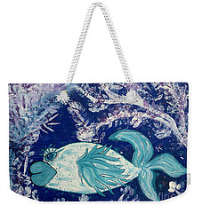 Blue Fish Called Flow Weekender Tote Bag