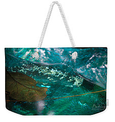 Blue Glass Bird Bath Weekender Tote Bag
