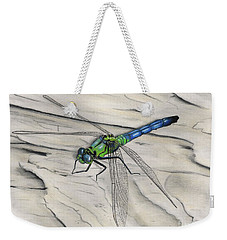 Blue-green Dragonfly Weekender Tote Bag