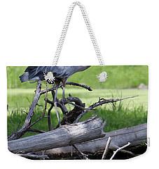 Blue Heron At The Lake Weekender Tote Bag