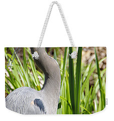 Weekender Tote Bag featuring the photograph Blue Heron by Marilyn Wilson