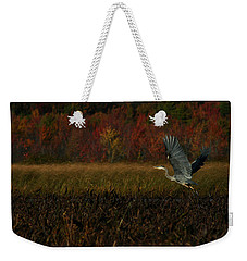Blue Heron Mud Pond Dublin Weekender Tote Bag