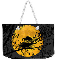 Weekender Tote Bag featuring the photograph Blue Heron On Roost by Dan Friend