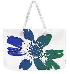 Weekender Tote Bag featuring the photograph Blue In Bloom by Lauren Radke