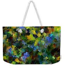 Blue Infinity Weekender Tote Bag