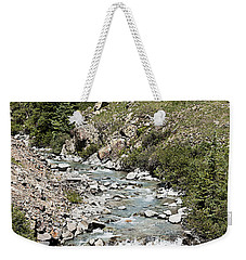 Blue Mountain Stream Weekender Tote Bag