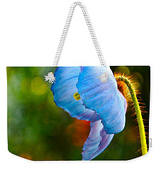 Blue Poppy Dreams Weekender Tote Bag by Byron Varvarigos