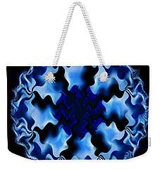 Blue Ripple Weekender Tote Bag