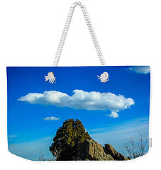 Weekender Tote Bag featuring the photograph Blue Skies by Shannon Harrington