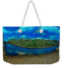 Weekender Tote Bag featuring the photograph Blue Sky Boat  by Chris Lord