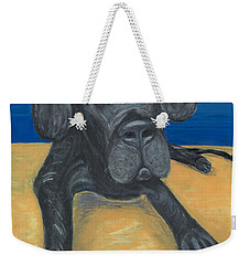 Blue The Great Dane Pup Weekender Tote Bag