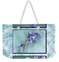 Weekender Tote Bag featuring the photograph Bluebell Triptych by Steve Purnell