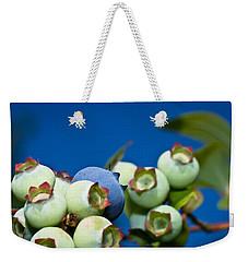 Blueberries And Sky Weekender Tote Bag