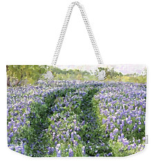 Weekender Tote Bag featuring the photograph Bluebonnet Trail by Donna  Smith