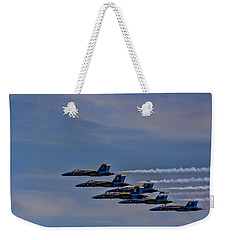 Weekender Tote Bag featuring the photograph Blues by David Gleeson