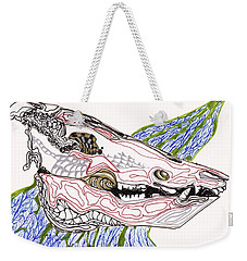 Boar Skull Ink Weekender Tote Bag