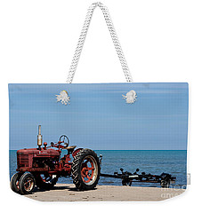 Weekender Tote Bag featuring the photograph Boat Trailer by Barbara McMahon