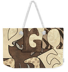 Bohemian Peace Weekender Tote Bag by Debbie DeWitt