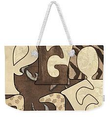 Bohemian Peace Weekender Tote Bag by Debbie DeWitt
