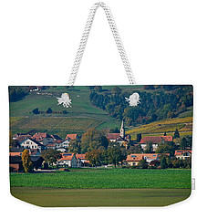 Weekender Tote Bag featuring the photograph Bonvillars by Eric Tressler