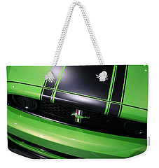 Weekender Tote Bag featuring the photograph Boss 302 Ford Mustang by Gordon Dean II