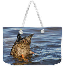 Weekender Tote Bag featuring the photograph Bottom's Up by Cindy Manero