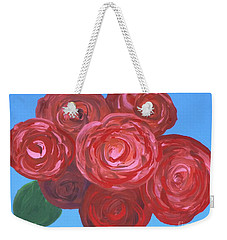 Weekender Tote Bag featuring the painting Bouquet Of Roses by Alys Caviness-Gober