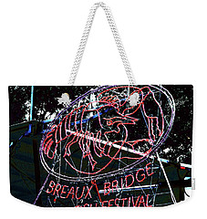 Breaux Bridge Crawfish Festival Weekender Tote Bag