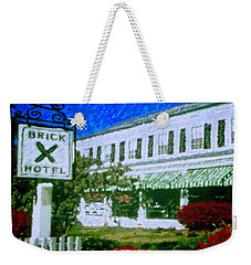 Brick Hotel Weekender Tote Bag by Vickie G Buccini