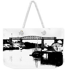 Weekender Tote Bag featuring the photograph Bridge On The Boyne by Charlie and Norma Brock
