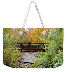 Bridge Over River Weekender Tote Bag