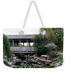Weekender Tote Bag featuring the photograph Bridge Over Water by Elizabeth Winter
