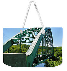 Weekender Tote Bag featuring the photograph Bridge Spanning Connecticut River by Sherman Perry