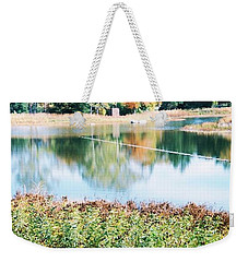 Bright Lake Weekender Tote Bag