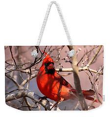 Bright Red Weekender Tote Bag