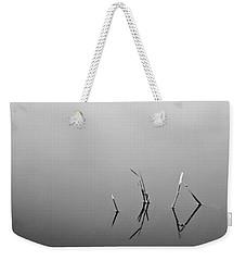 Weekender Tote Bag featuring the photograph Broken Reeds by Dan Wells