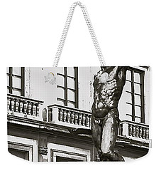 Weekender Tote Bag featuring the photograph Bronze Icon by Eric Tressler